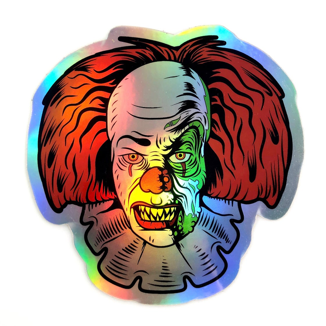 Image of Battery Acid Holographic Die Cut Sticker