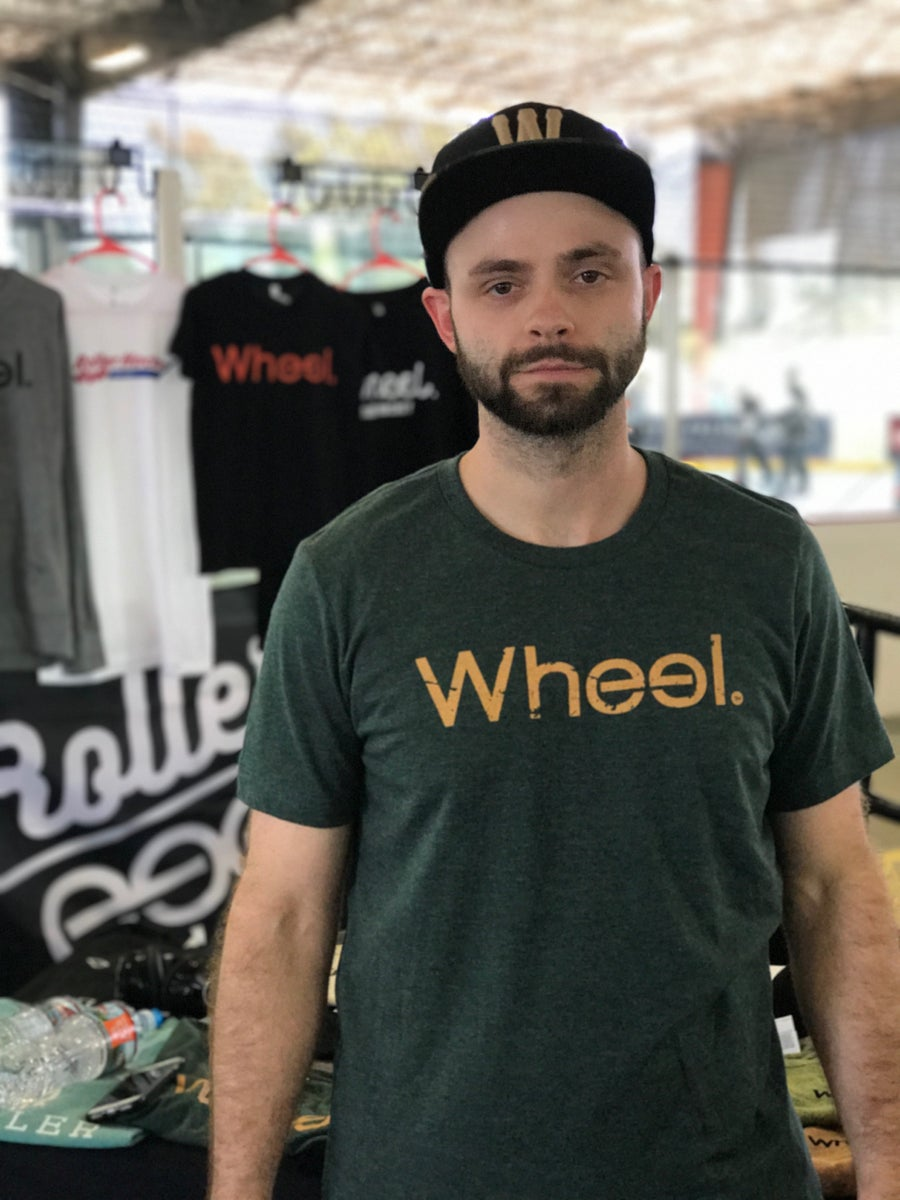 Image of The Wheel. Classic Tee - Heather Forest Green
