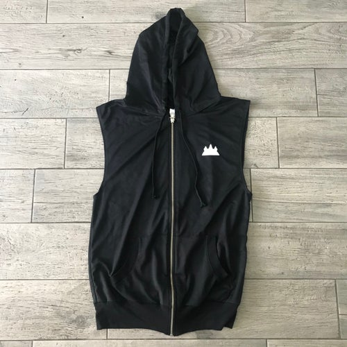 Image of UNISEX SLEEVELESS LIGHTWEIGHT ZIPPER HOODIE