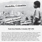 Image of SOLD OUT - COLOMBIAN (Medellín) PUNK/HC/METAL Mix Tape 1987-1992