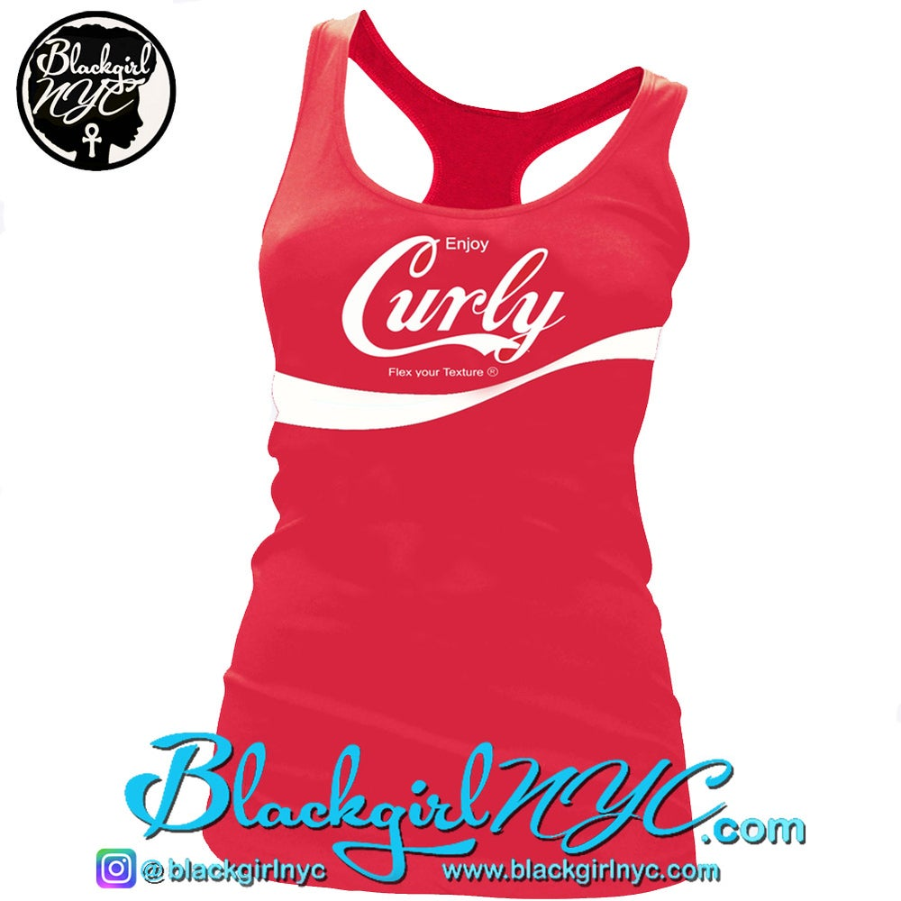 Image of CURLY  (flex your texture) Racerback Tank Top