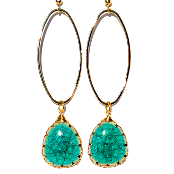 Image of Island Luxe - Gold Isle of Capri Earrings - Lagoon