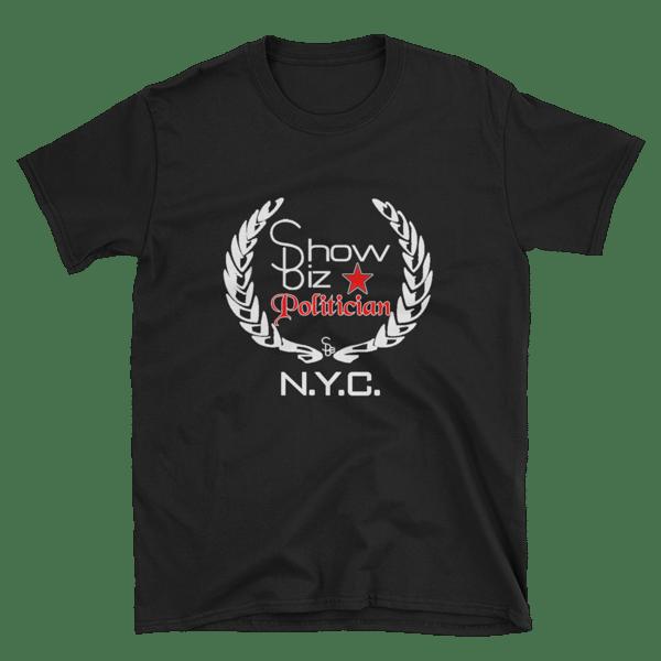 Image of ShowBiz Politician Short-Sleeve Unisex T-Shirt - Black / 2XL