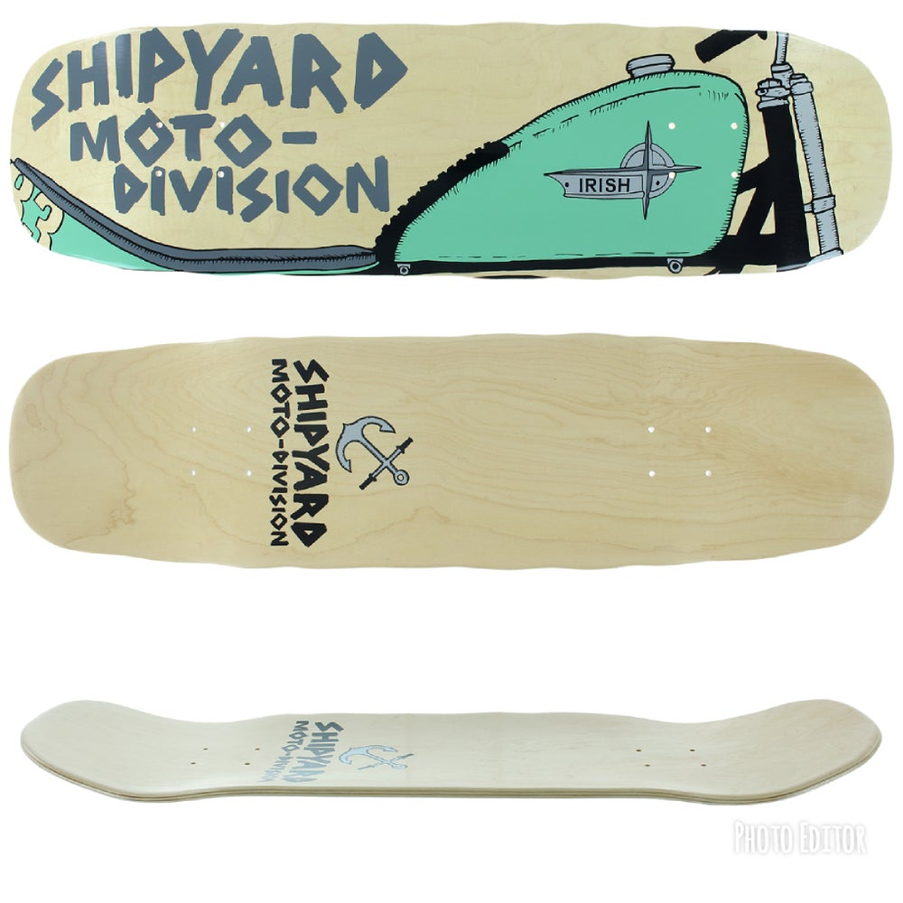 Image of Shipyard Skates JESSE IRISH Moto Division deck