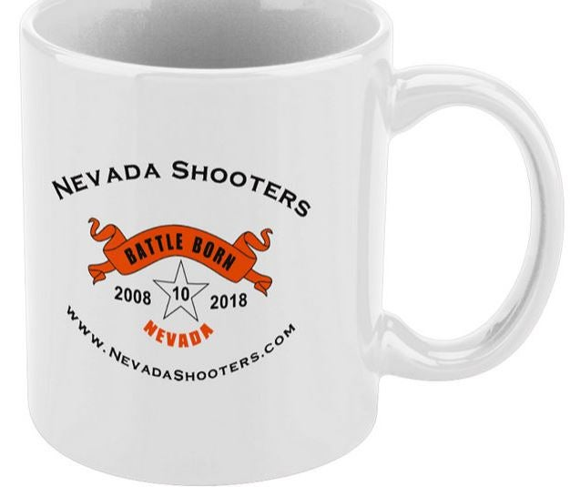 Image of Nevada Shooters 10 Year Anniversary Mug - ORDER SEPARATELY