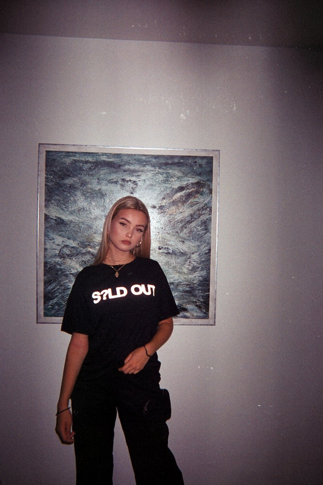 Image of S?LD OUT - HEAVY LOGO TEE (BLACK)