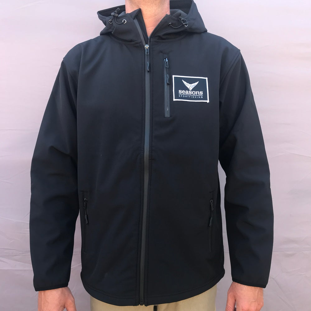 Image of SEASONS - POLY-TECH WATER RESISTANT SOFT SHELL JACKET - TUNA TAIL