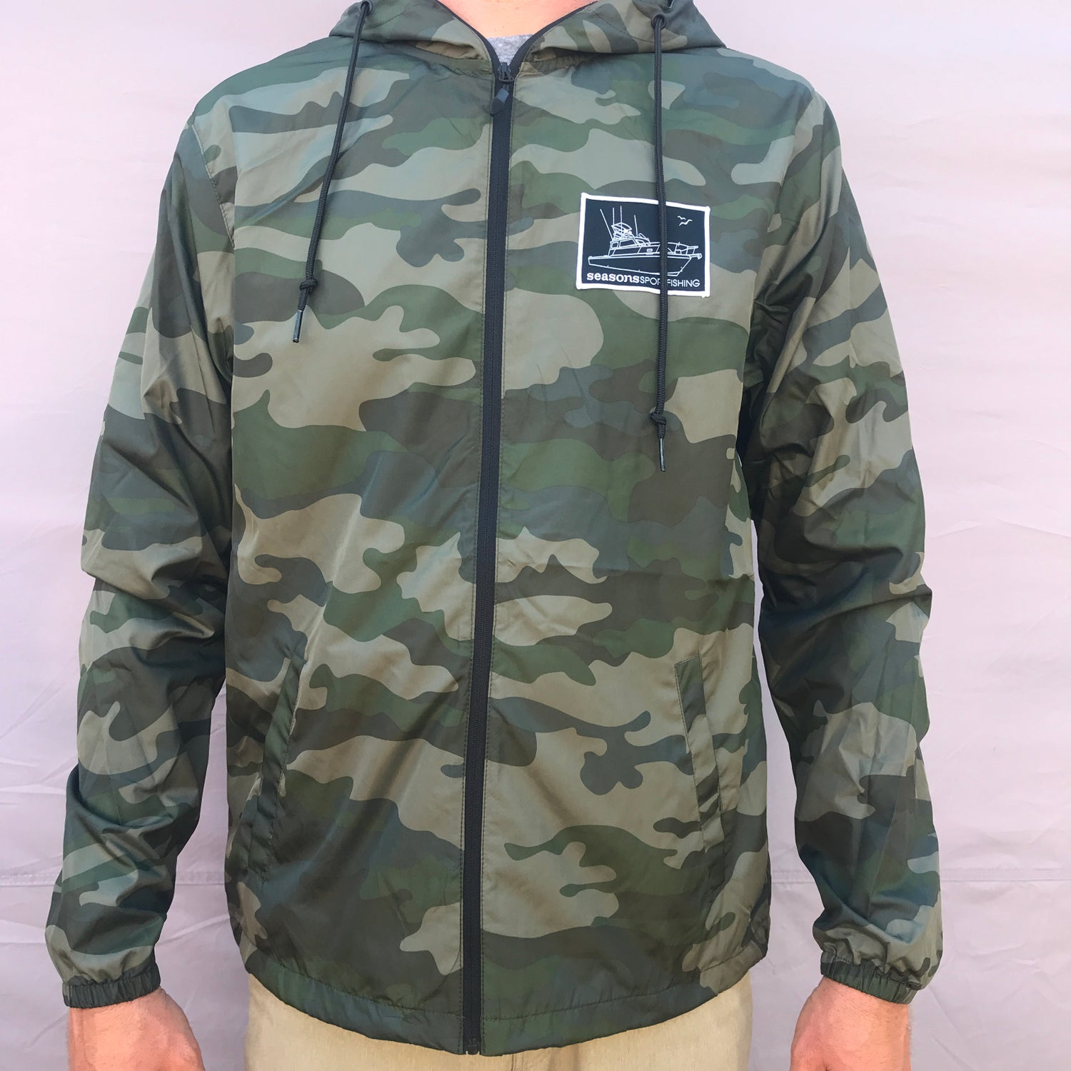 Image of SEASONS - LIGHTWEIGHT WINDBREAKER JACKET - FOREST CAMO - MOTHERSHIP