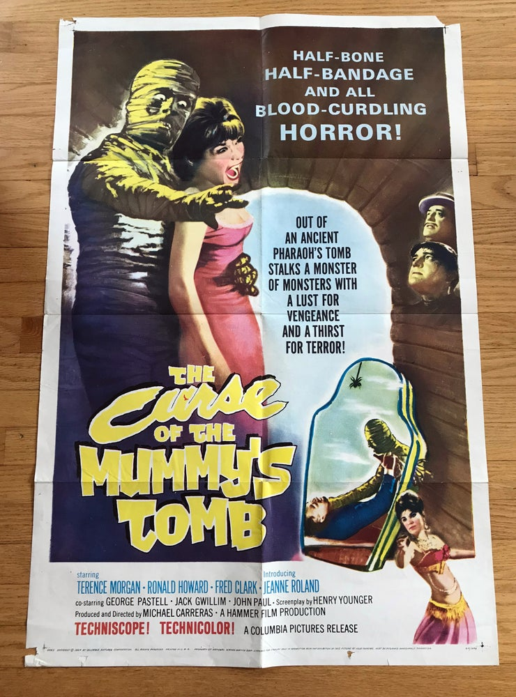 Image of 1964 CURSE OF THE MUMMY'S TOMB Original U.S. One Sheet Movie Poster