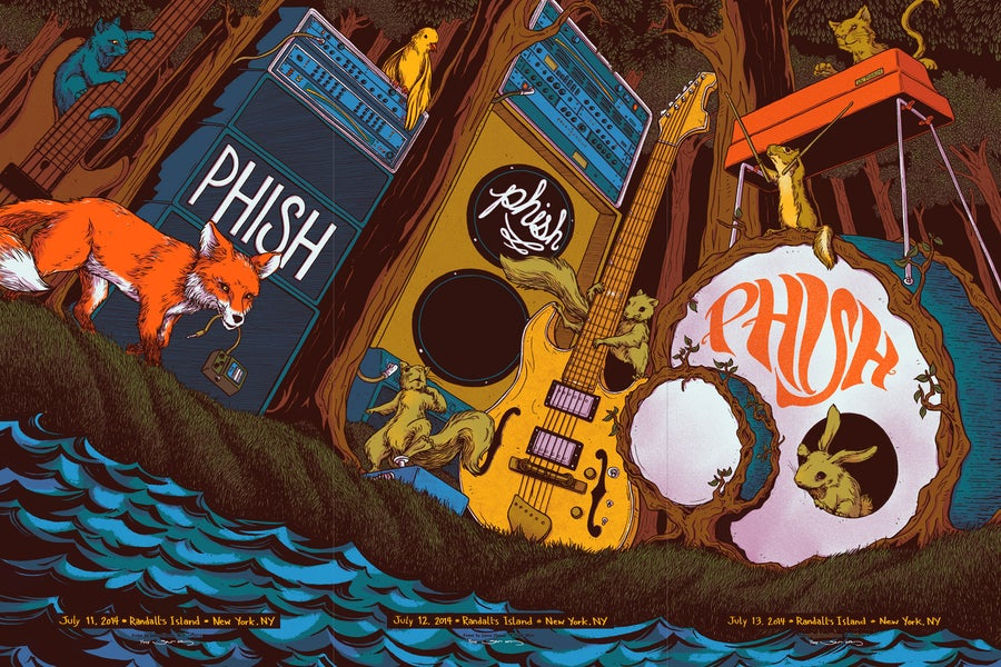 Image of Phish - Randall's Island 2014 - Triptych