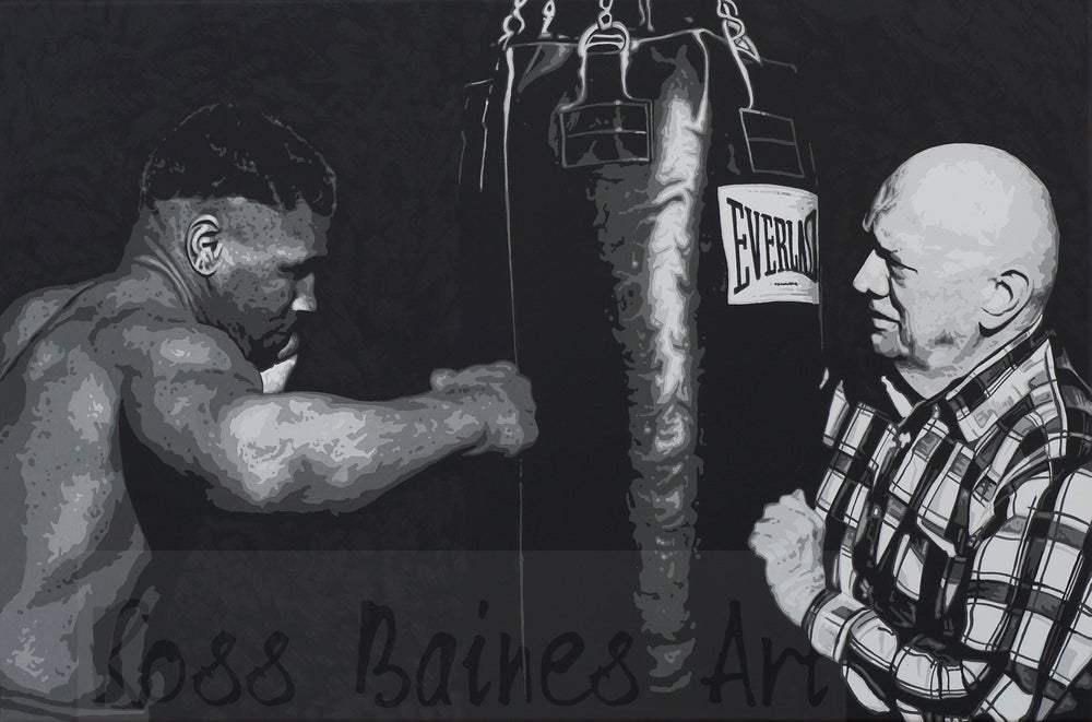 Image of MIKE & CUS (3x2ft canvas print)