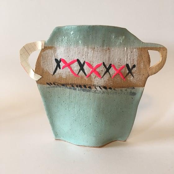 Image of cross stitch vase