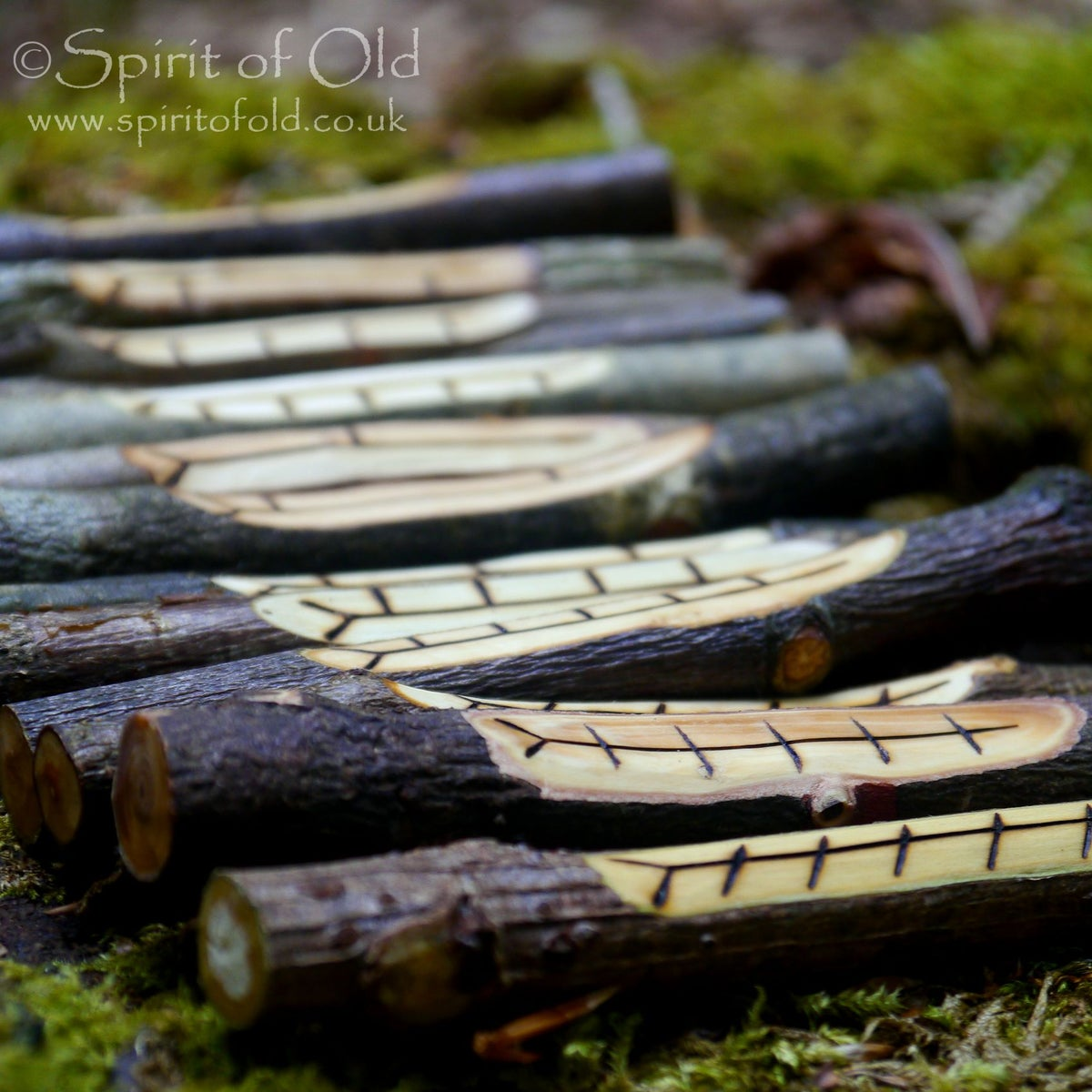 Image of Tree Breath staves - Lunar Celtic Tree Calendar (TC001)