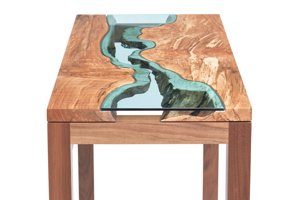 Maple Walnut River 174 Console Table Greg Klassen