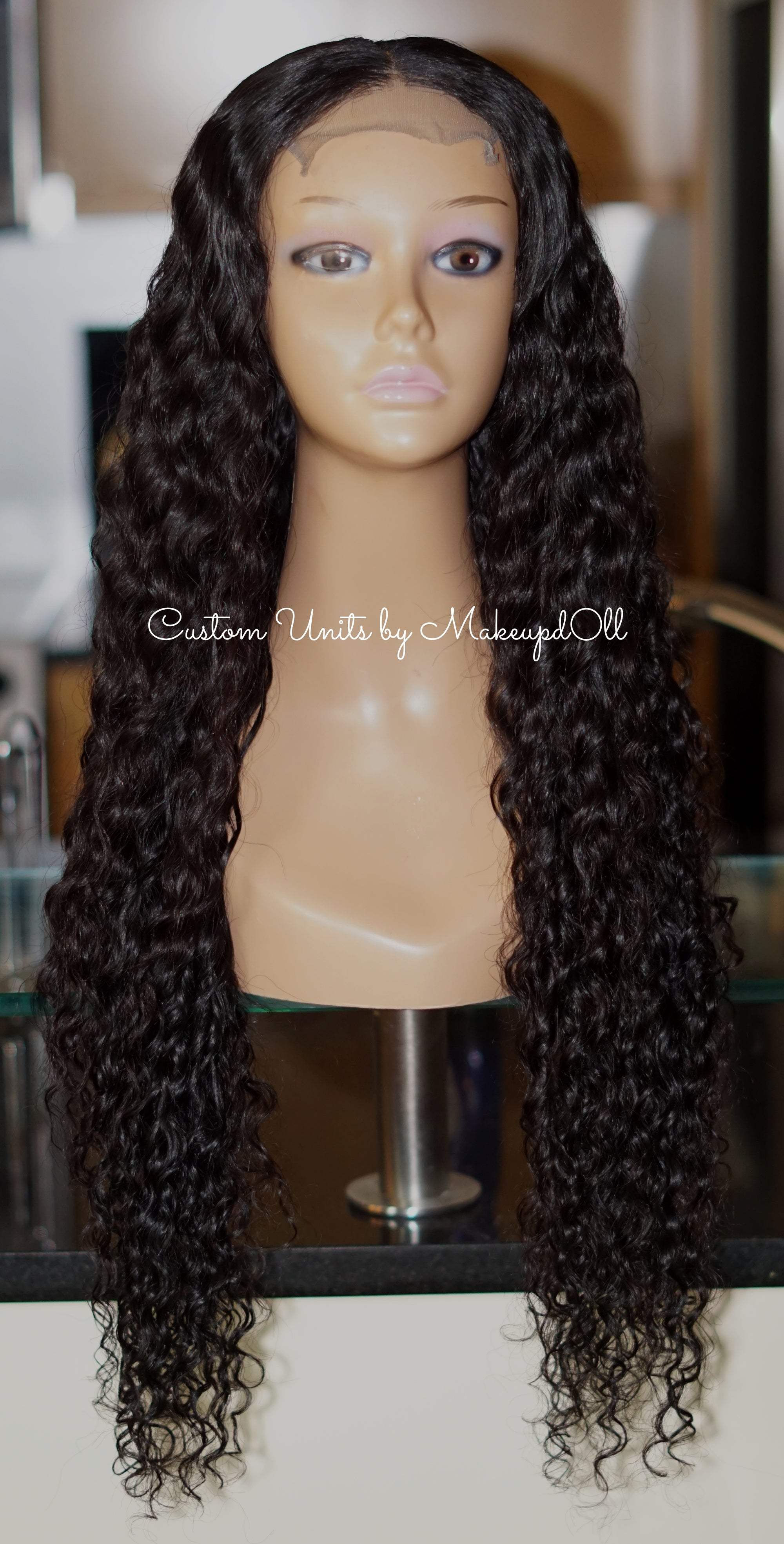 "Image of Cambodian Natural Wave 28"" Custom Lace Closure Wig!"