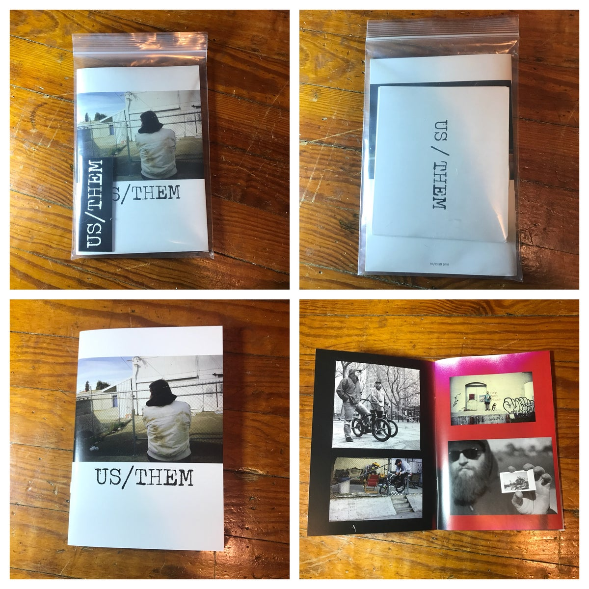 Image of US/THEM dvd and zine.