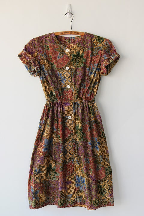 Image of SOLD Batik Print Dress