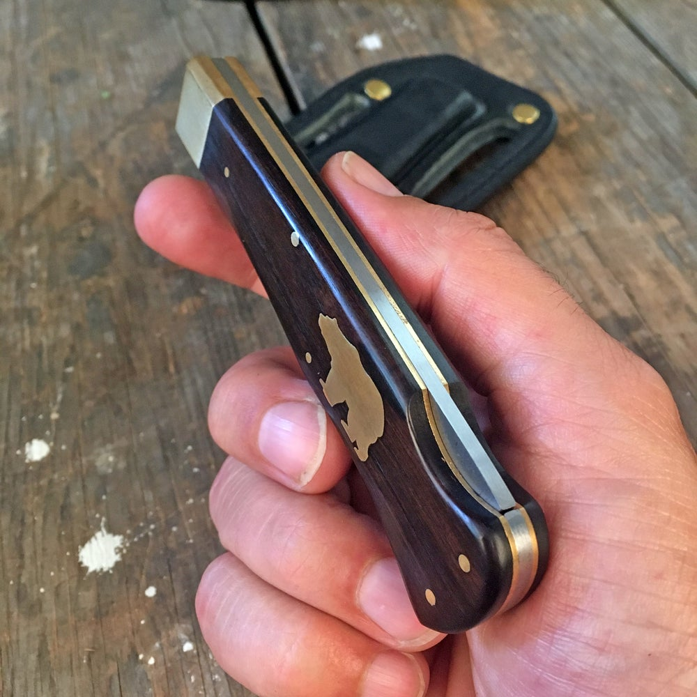 Image of ONDURA POCKETKNIFE WITH PANCAKE HOLSTER BLACK