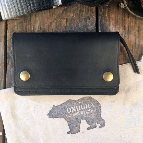 Image of ONDURA SLIM BIKER WALLET BLACK