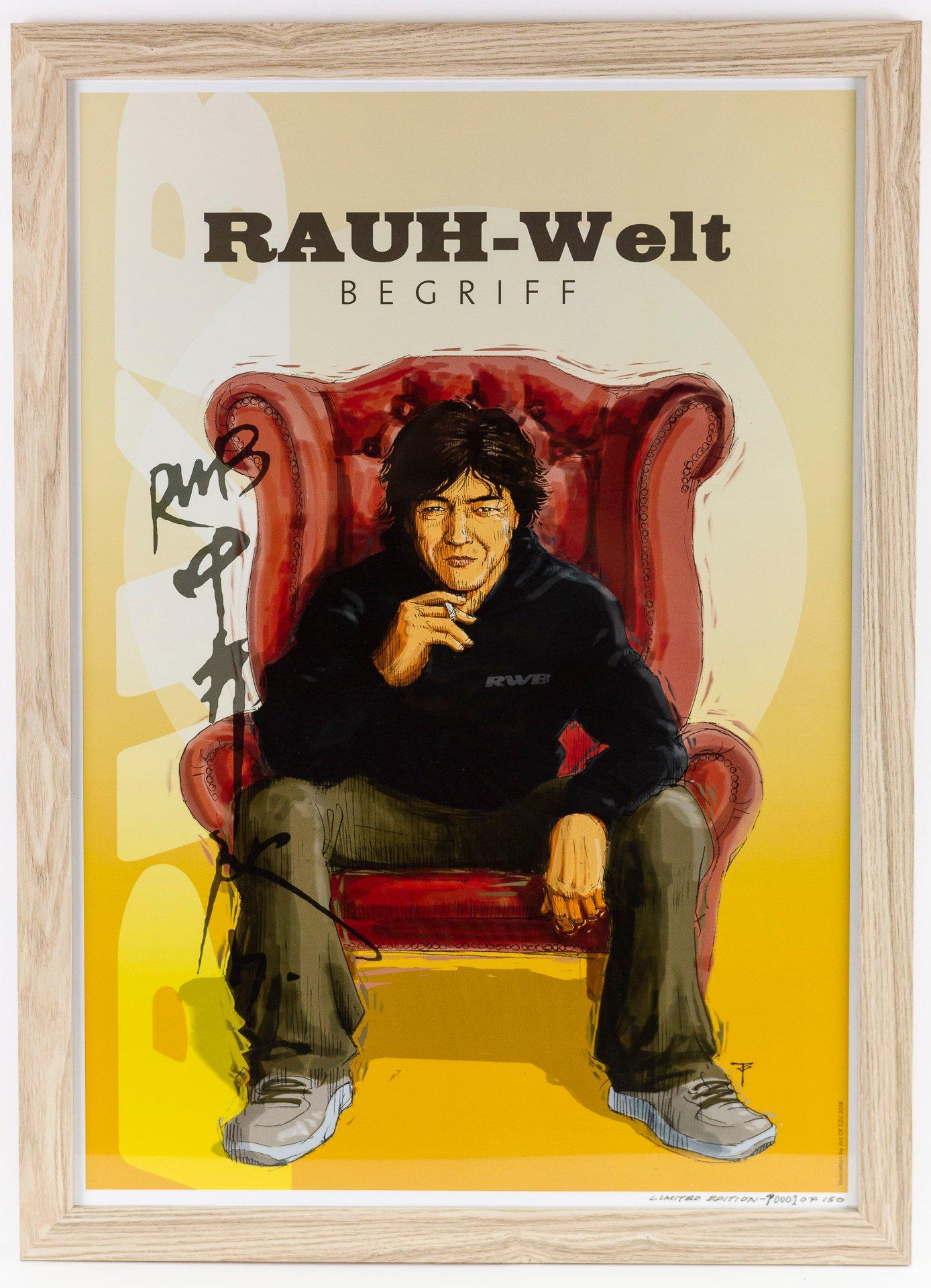 Akira Nakai Tribute Poster Rauh Welt Begriff New Zealand