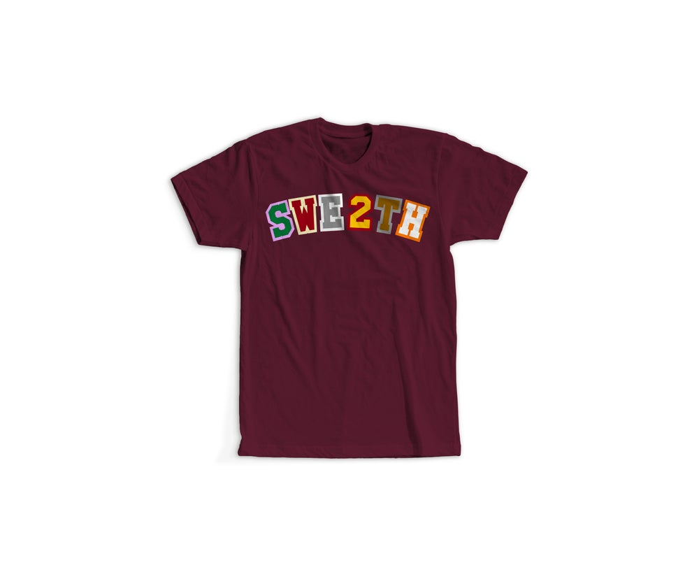 Image of Now Later Player Tee Maroon