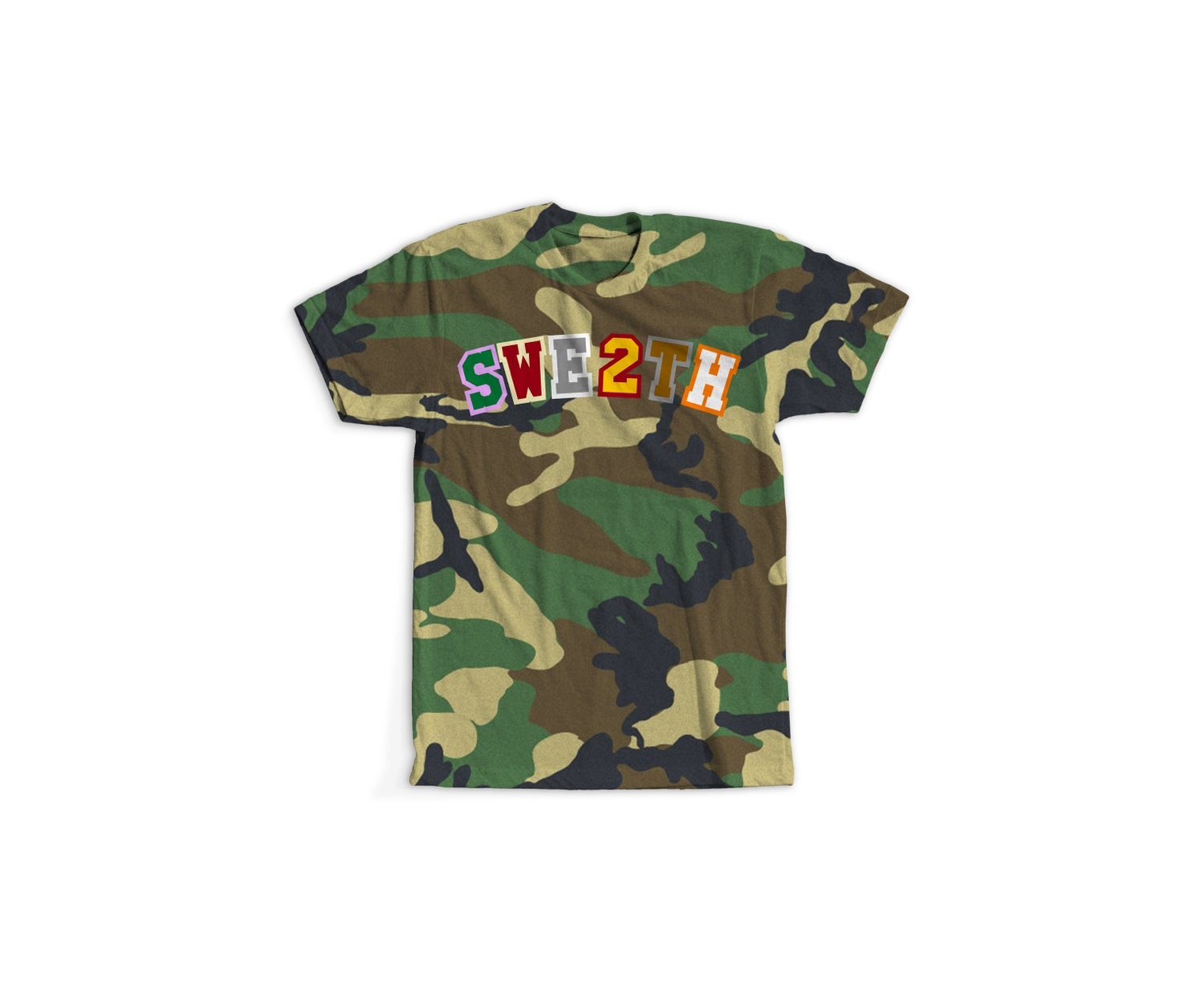 Image of Now Later Player Tee Woodland Camo
