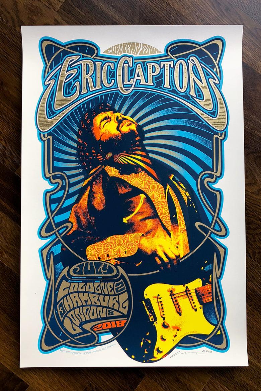 Image of Eric Clapton European Tour 2018 Silkscreen Poster