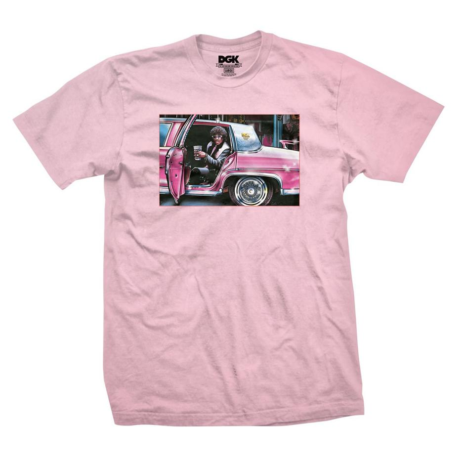 Image of DGK DON'T SPILL MY YAK TSHIRT PINK