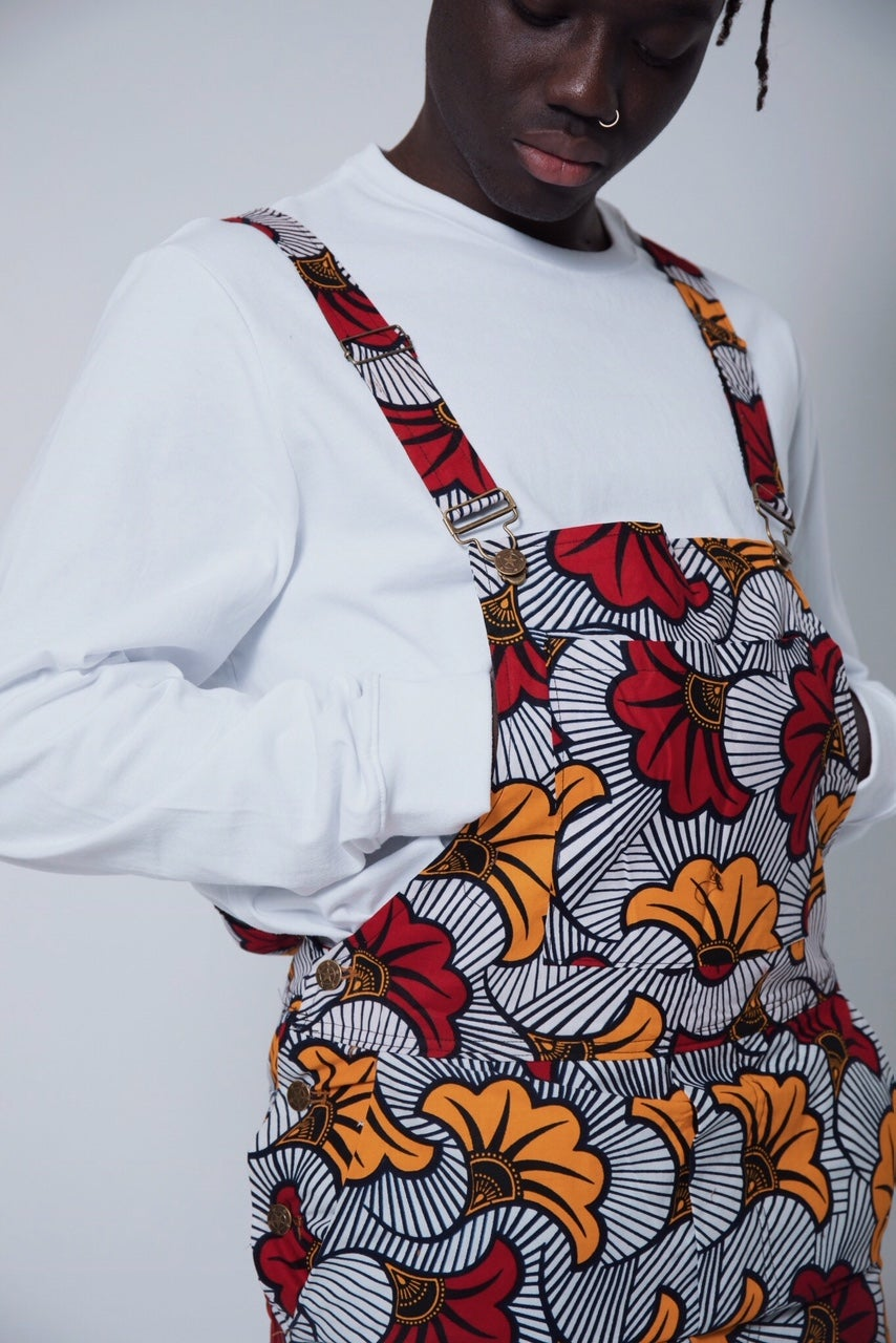 Image of African Rose Dungarees