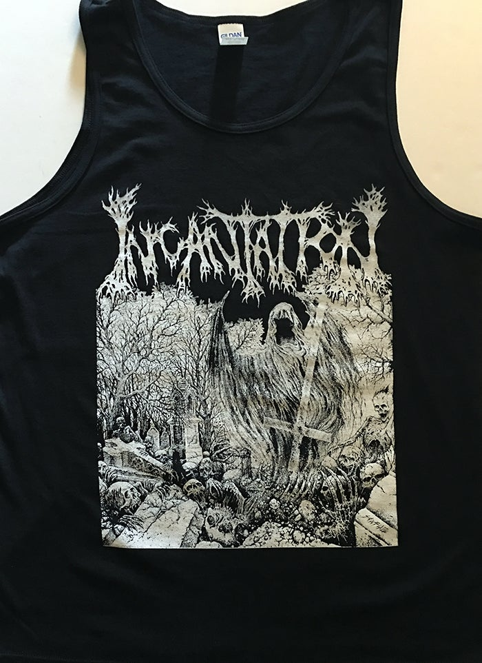 "Image of Incantation "" Rotting "" Tanktop"