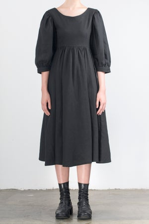 Image of Diane Two Side Dress Black