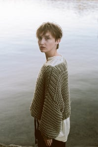 Image of BATEAU CROP SWEATER- Organic Cotton