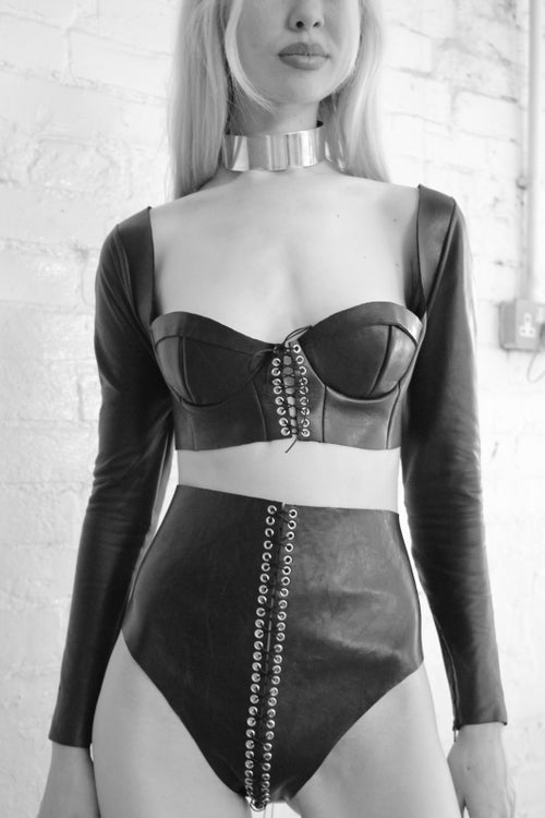 Image of SIN LONG SLEEVED BUSTIER