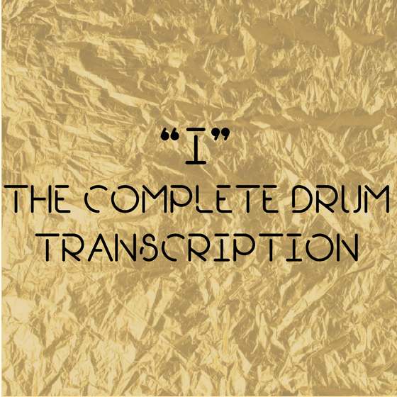 "Image of "" I "" The Complete Drum Transcription + 'Tendinitis' (Jason Richardson Album)"