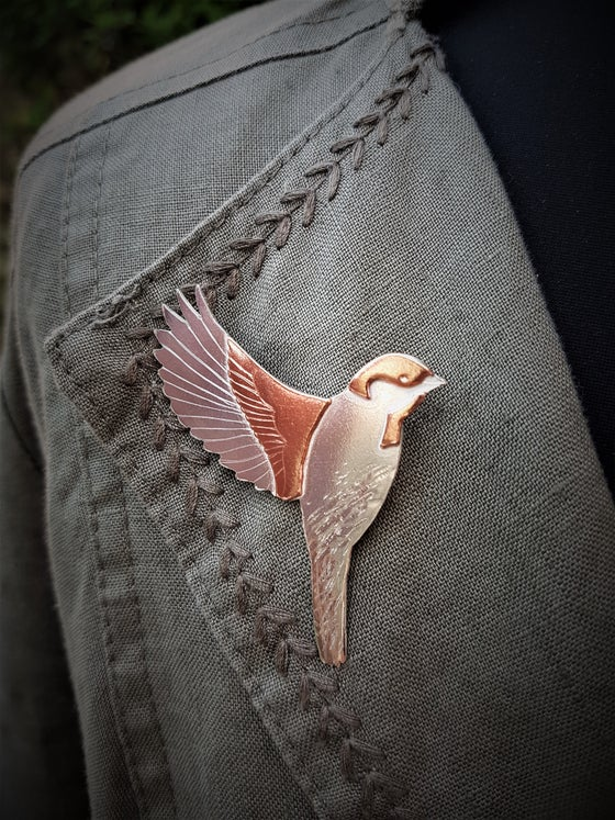 Image of Flying Sparrow Brooch