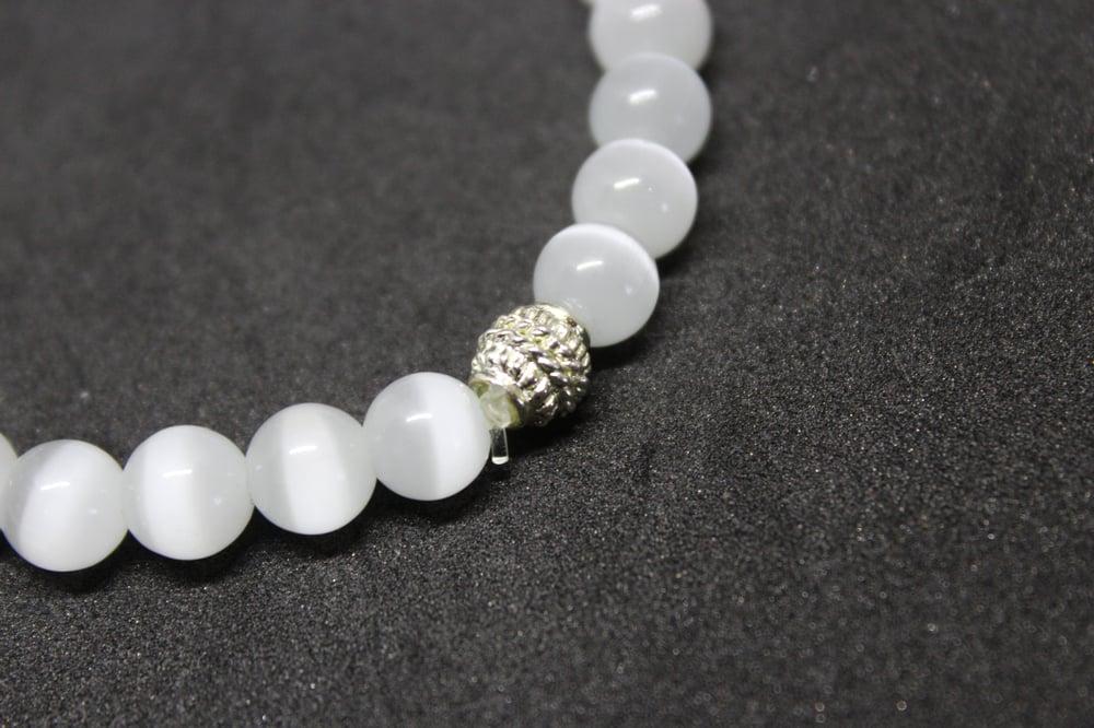 "Image of ""Infinity"" Energy Jem Bracelet (White) - VII DOSE X KuvLi"
