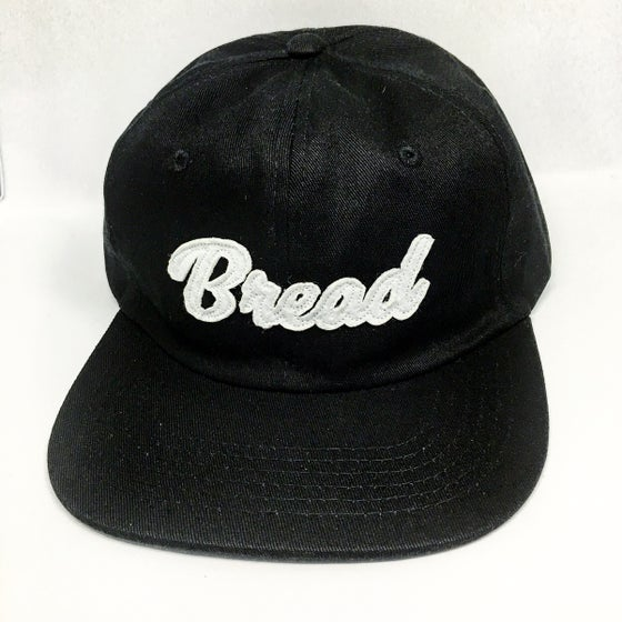 Image of Black script BREAD unconstructed strapback