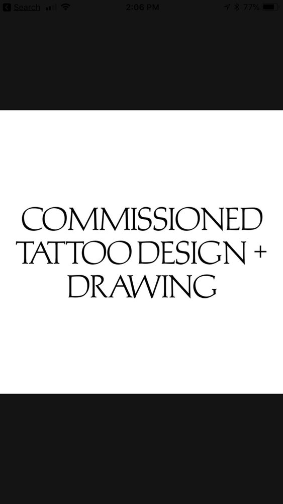 Image of Commissioned Tattoo design and Drawing ➕ November