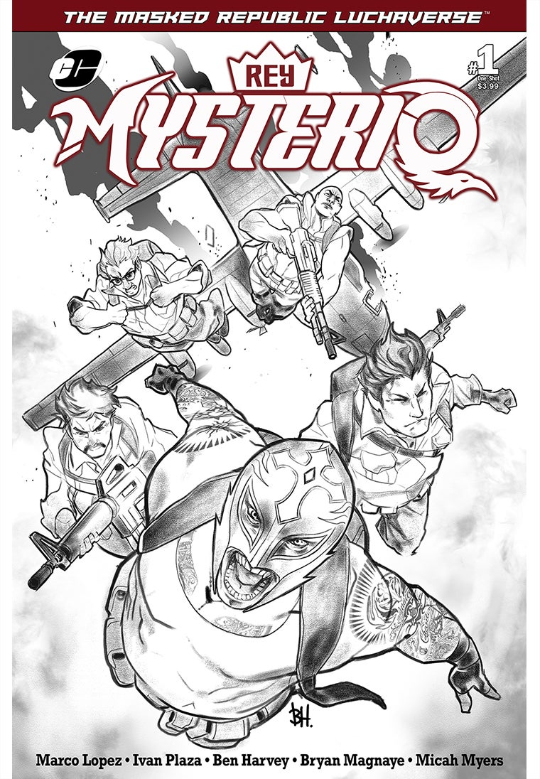 Image of Masked Republic Luchaverse: Rey Mysterio #1 - Black & White Variant (Ltd. 500)