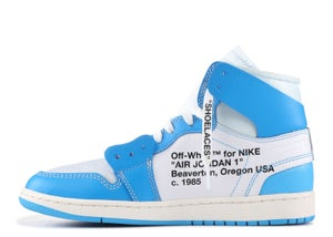 "Image of AIR JORDAN 1 RETRO HIGH OFF WHITE ""UNC"""
