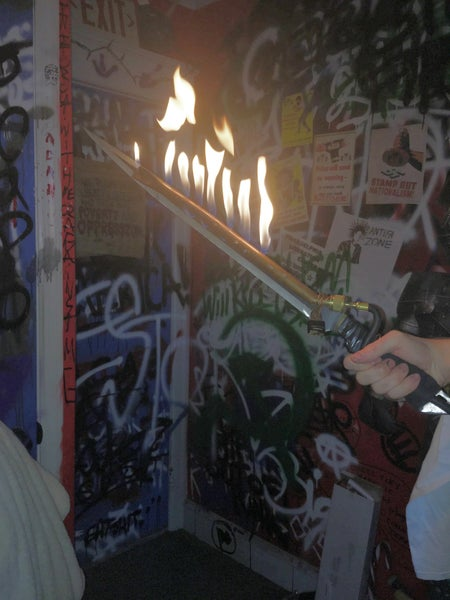 Image of an actual flaming sword