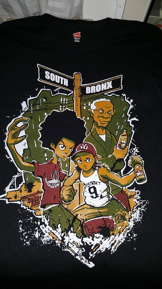 Image of DISTRICT 9 SOUTH BRONX T SHIRT IN STOCK