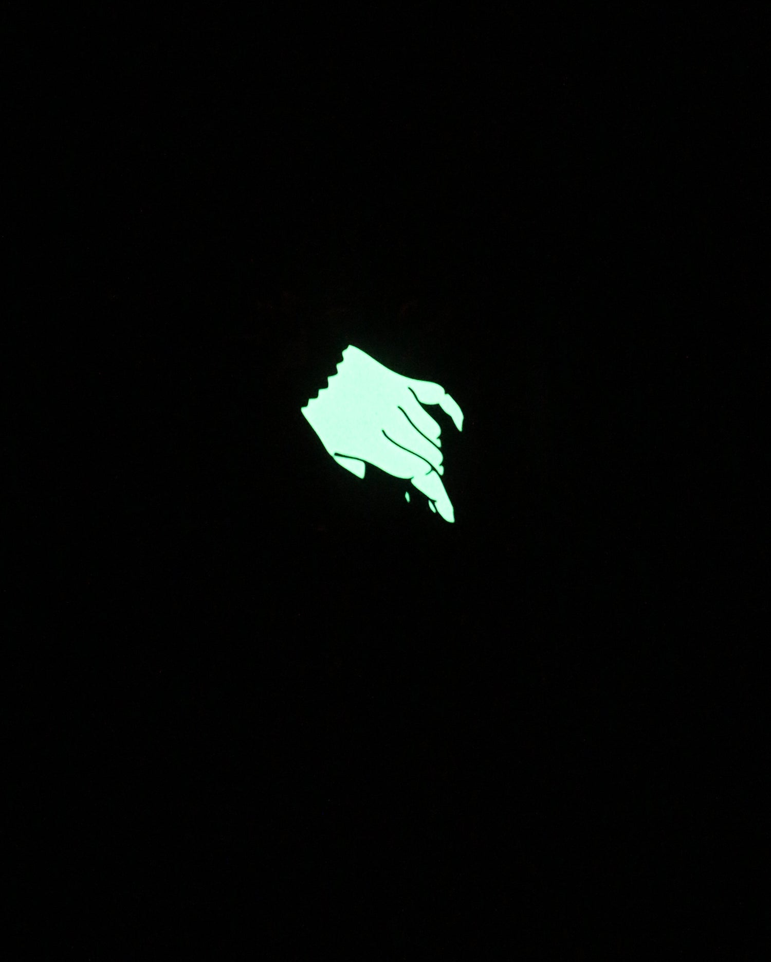 Image of Athame Pin - Glow In The Dark *Limited Edition*