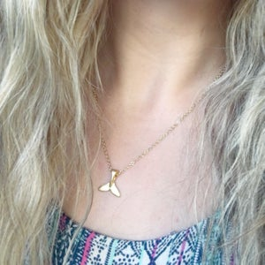 Image of Mermaids Tail Pendant - gold or silver plated