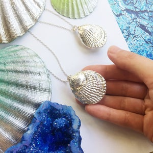 Image of Atlantis Shell Pendant - fossilised plated shell