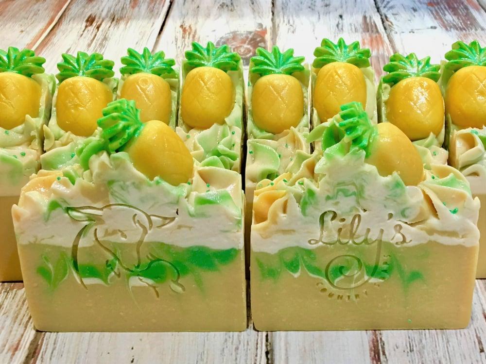 Image of Pineapple Papaya Goat Milk Soap