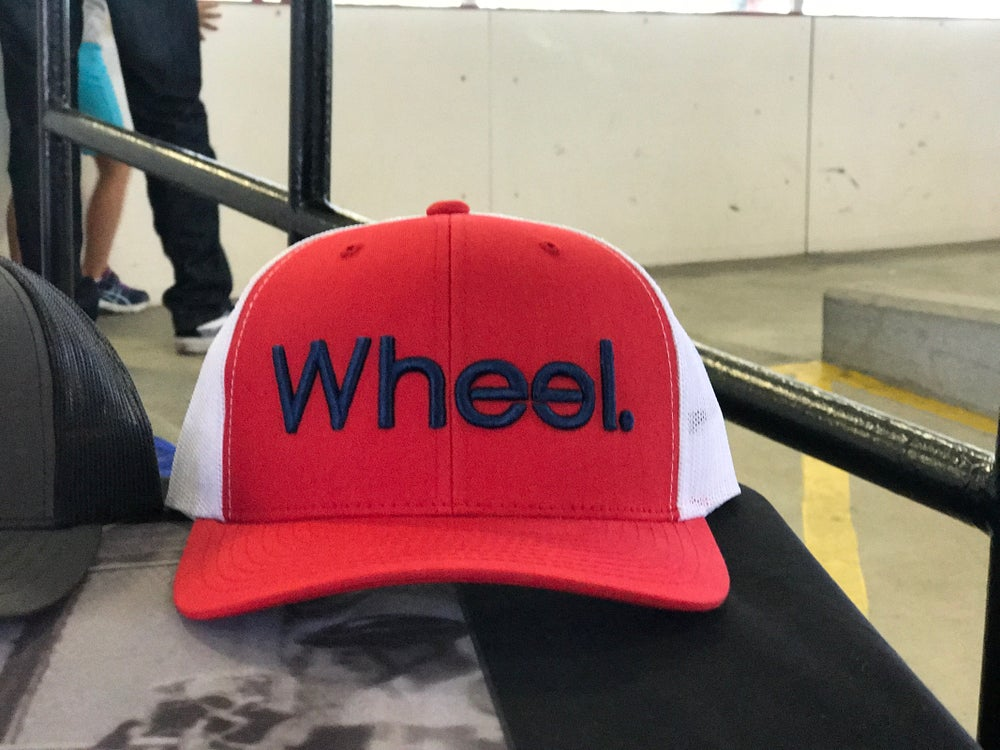 Image of Wheel. Mesh Back (Red/Navy)