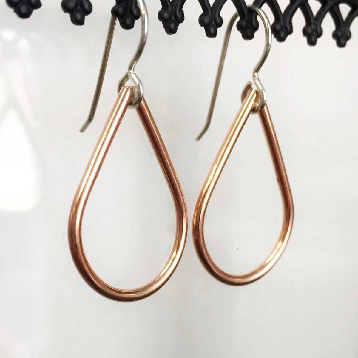 Image of Mini Copper Teardrop Earrings