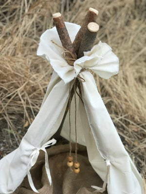 Image of Natural white muslin, newborn teepee photo prop, tp photography prop