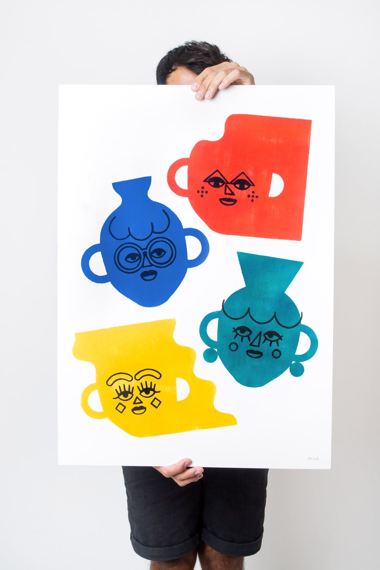 Image of VASES WITH FACES